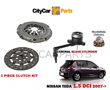 NISSAN TIIDA 1461cc K9K 1.5 DCI 2007 ONWARDS NEW CLUTCH KIT WITH SLAVE CYLINDER